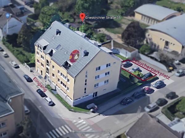 Lufbildaufnahme des Gebäudes